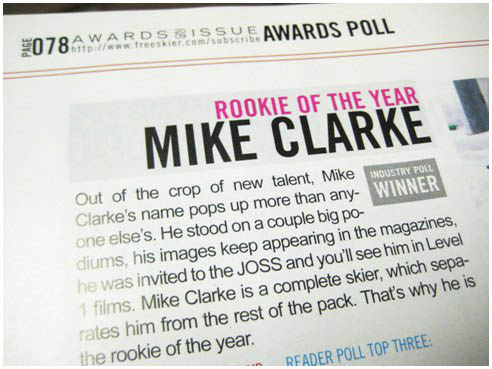 Mike Clarke, Rookie of the Year